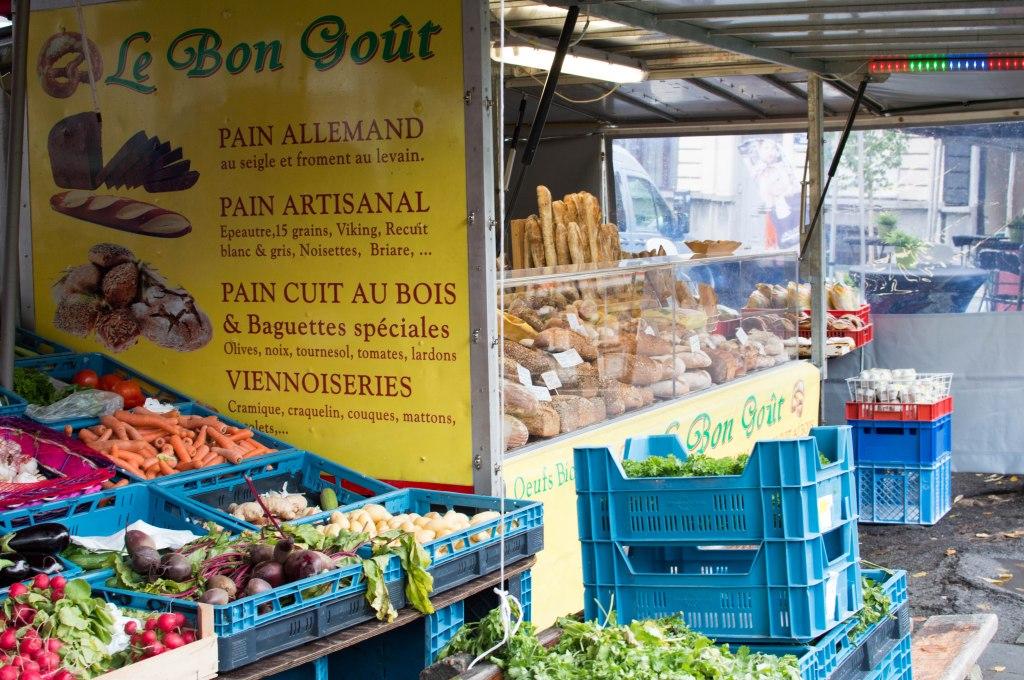 Fresh Bread At The Place du Châtelain Farmers Market, Brussels, Belgium