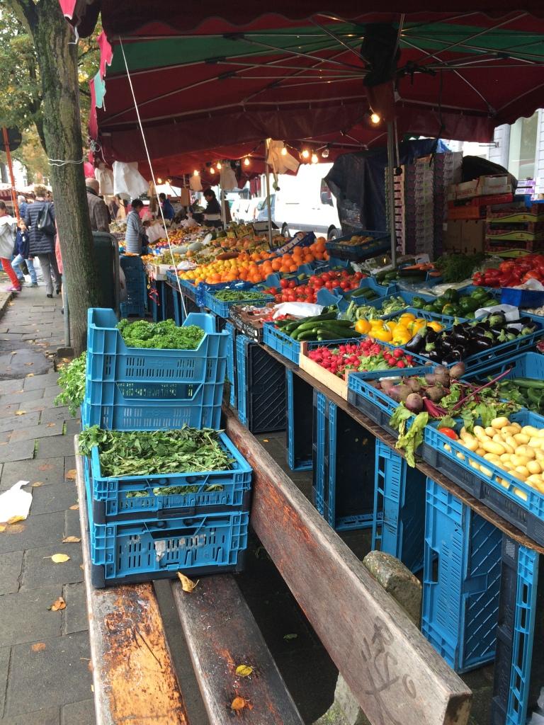 Fruit And Veg At The Place du Châtelain Farmers Market, Brussels, Belgium