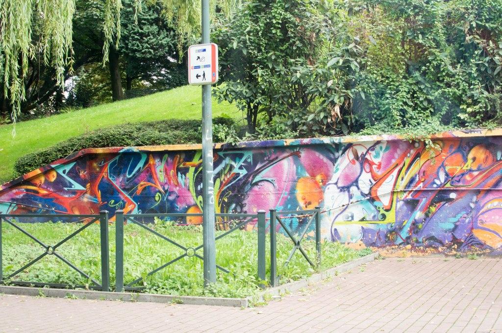 Graffiti From The Tram, Street Art, Brussels, Belgium