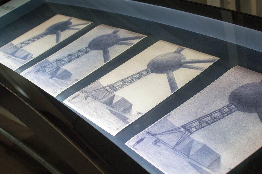 Hand Drawn Sketches, The Atomium, Brussels, Belgium