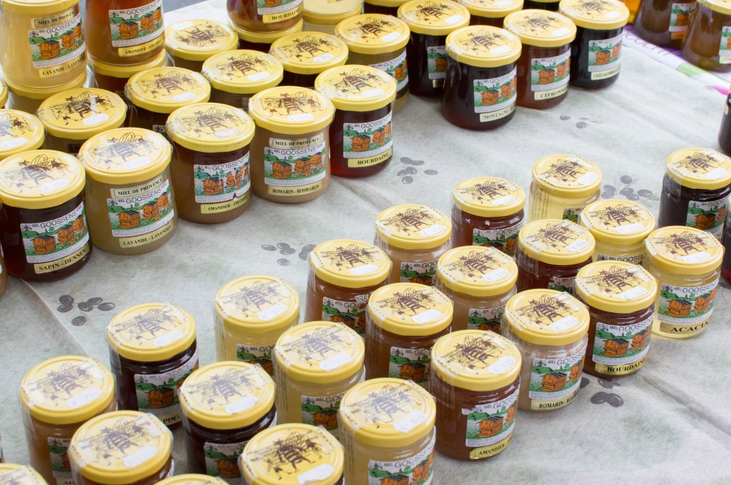 Honey At The Place du Châtelain Farmers Market, Brussels, Belgium