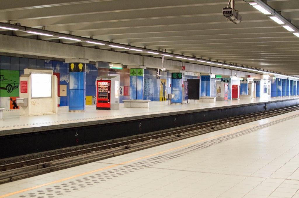 Metro Platform, Brussels, Belgium