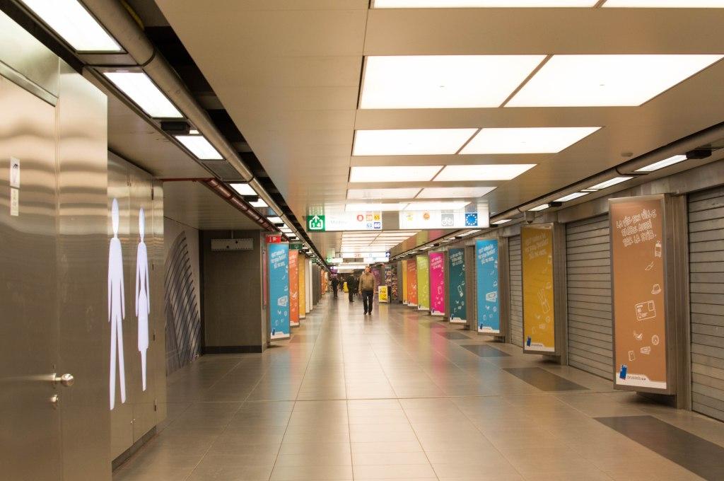 Metro Station, Brussels, Belgium