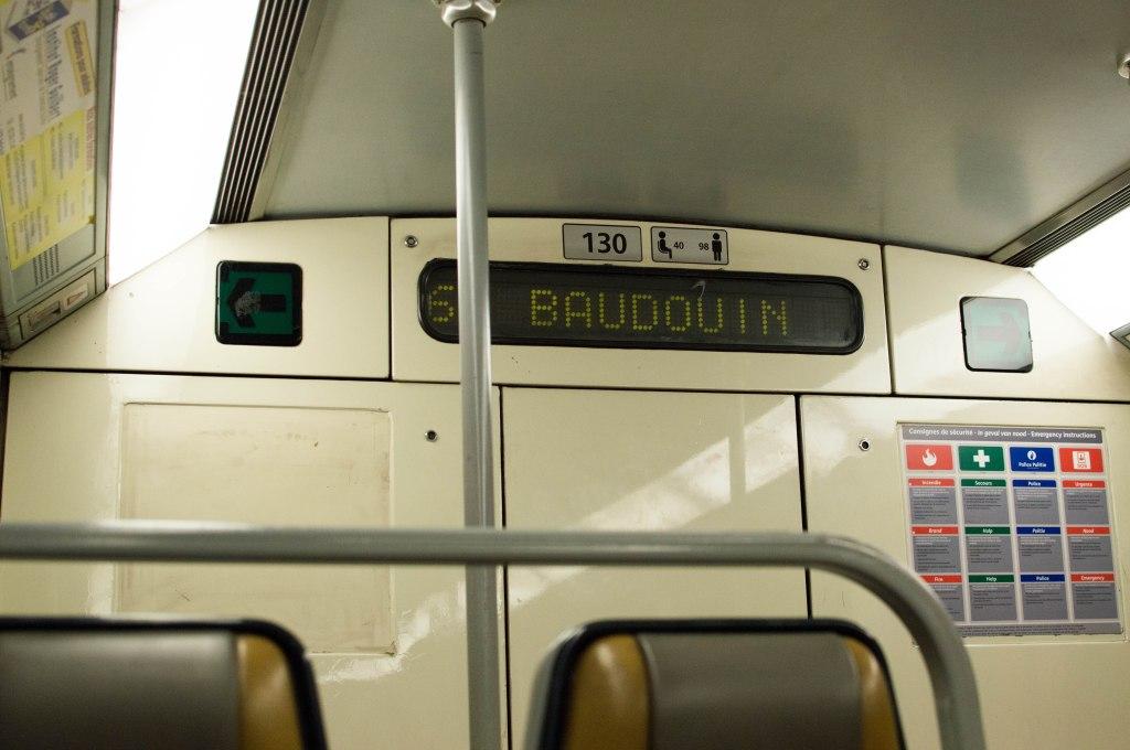 Metro To Baudouin, Brussels, Belgium