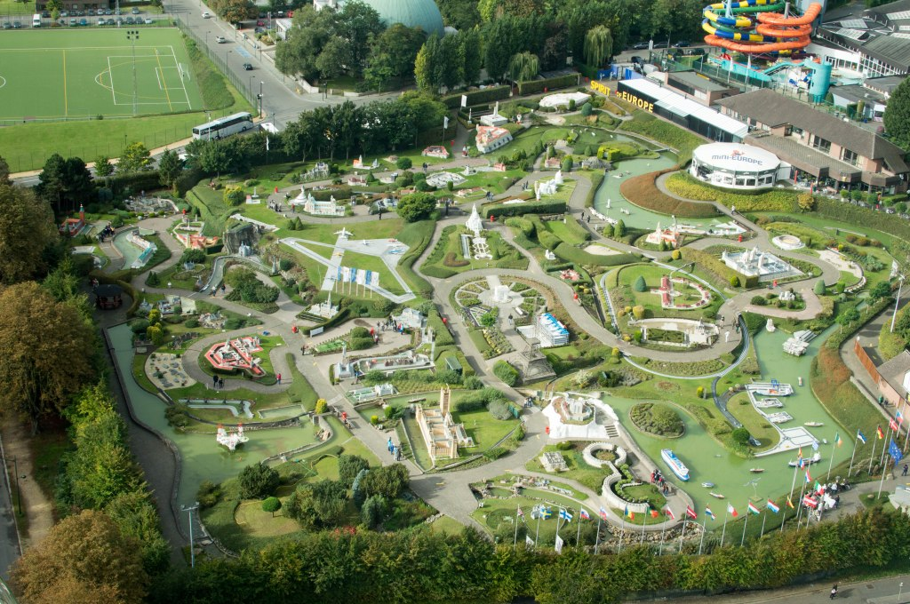 Mini Europe From The Atomium, Brussels, Belgium