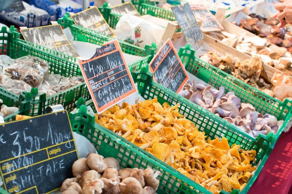 Mushrooms At The Place du Châtelain Farmers Market, Brussels, Belgium