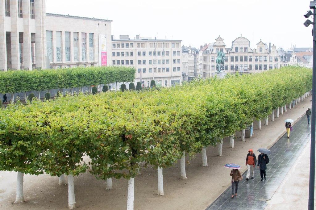 People Walking Through Meeting Square, Brussels, Belgium