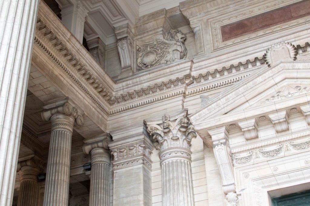 Pillars At Justice Palace, Palais de Justice, Brussels, Belgium