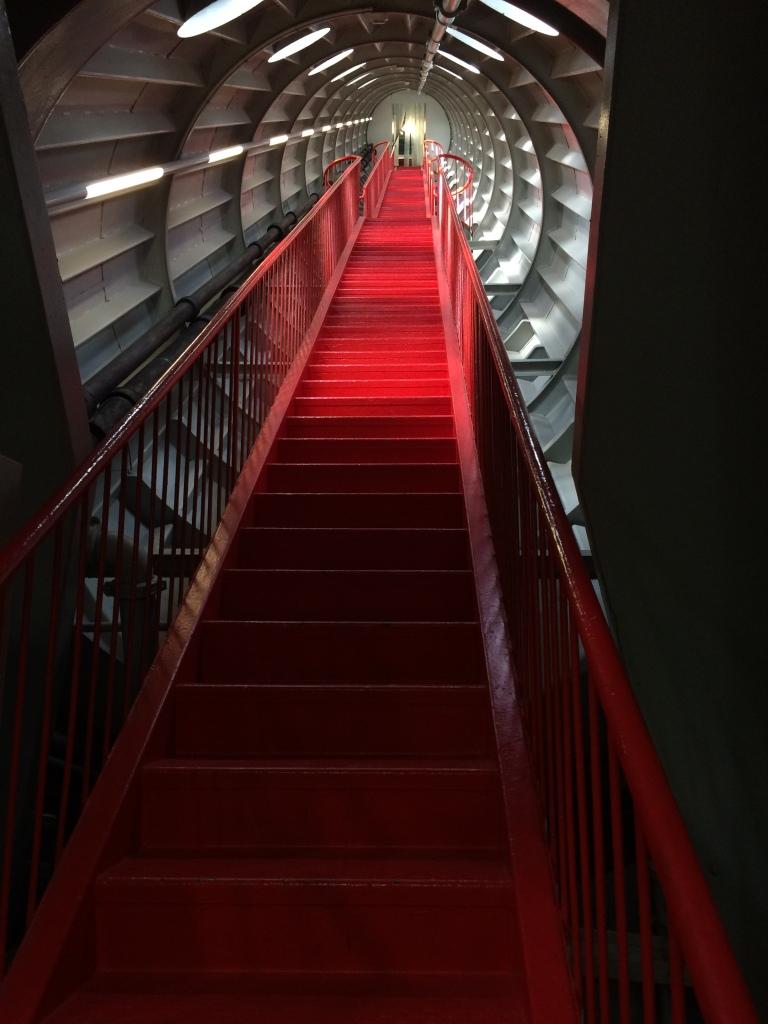 Red Stairs, The Atomium, Brussels, Belgium