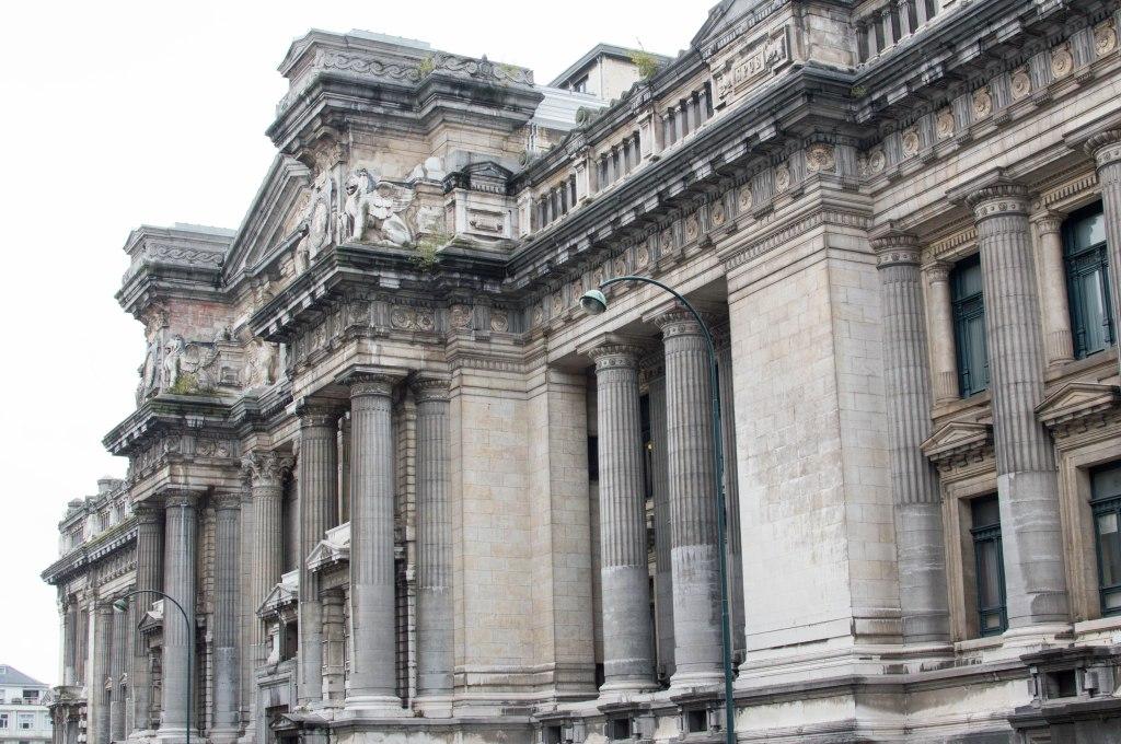 Side Shot Of The Palais de Justice, Brussels, Belgium