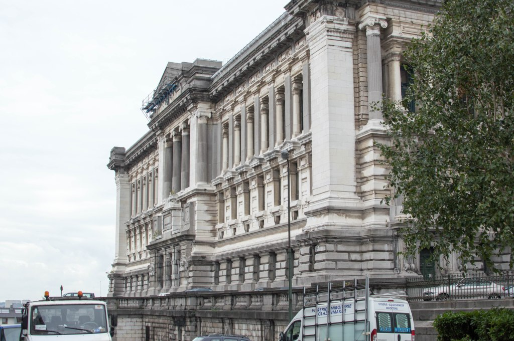 Side View, Justice Palace, Palais de Justice, Brussels, Belgium