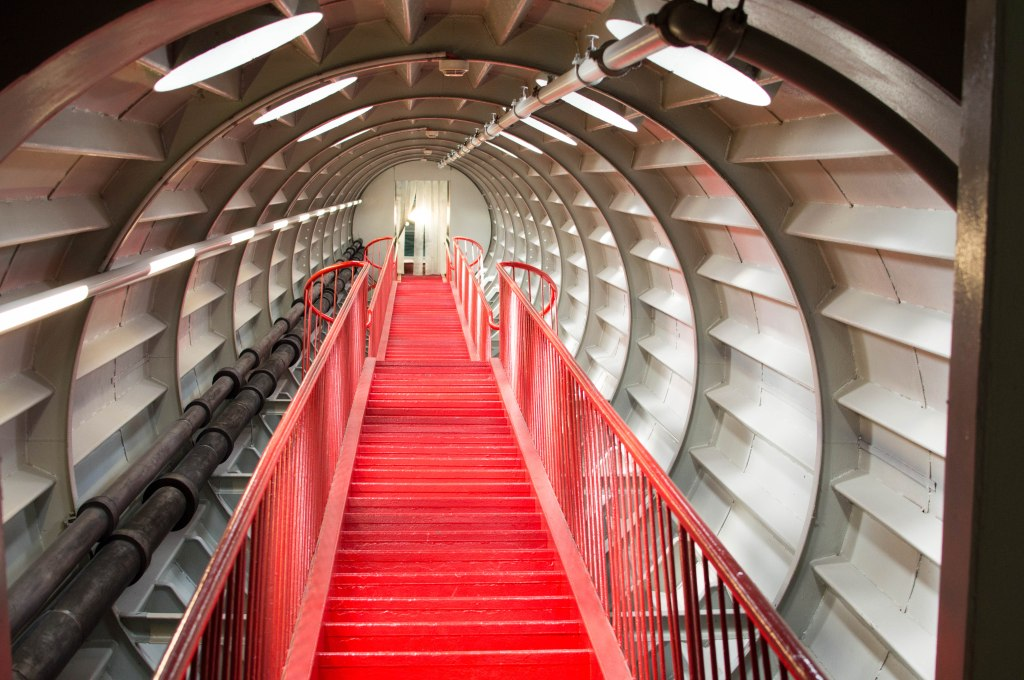 Stairs, The Atomium, Brussels, Belgium