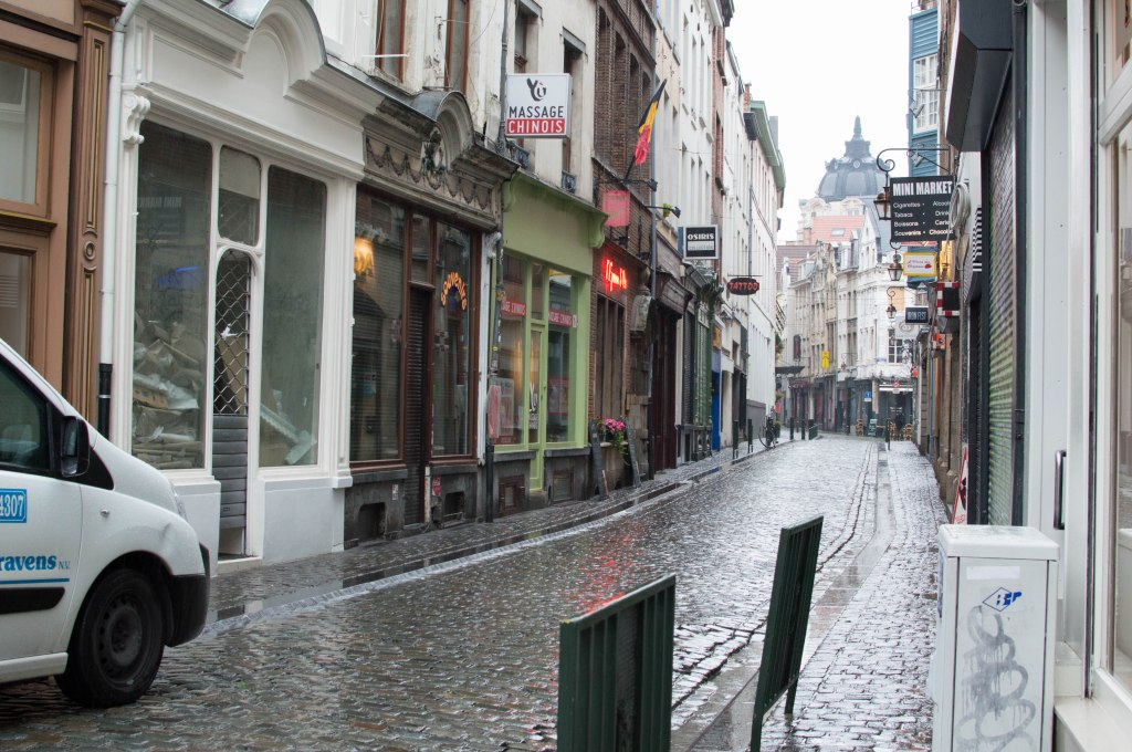 Streets Of Brussels In The Rain