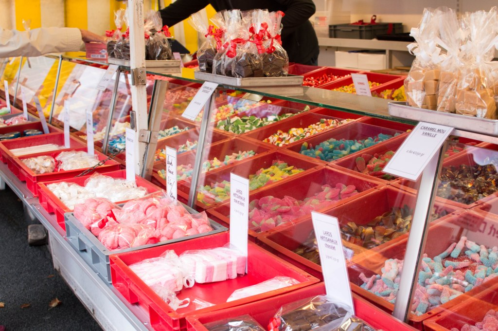 Sweets At The Place du Châtelain Farmers Market, Brussels, Belgium