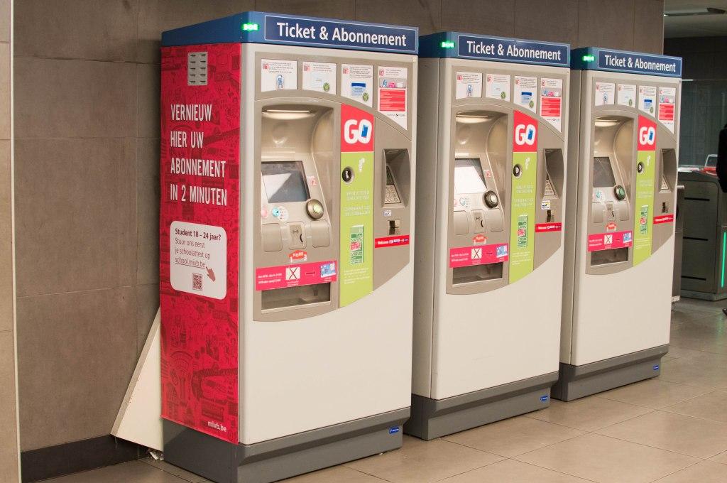 Ticket Machine, Metro, Brussels, Belgium