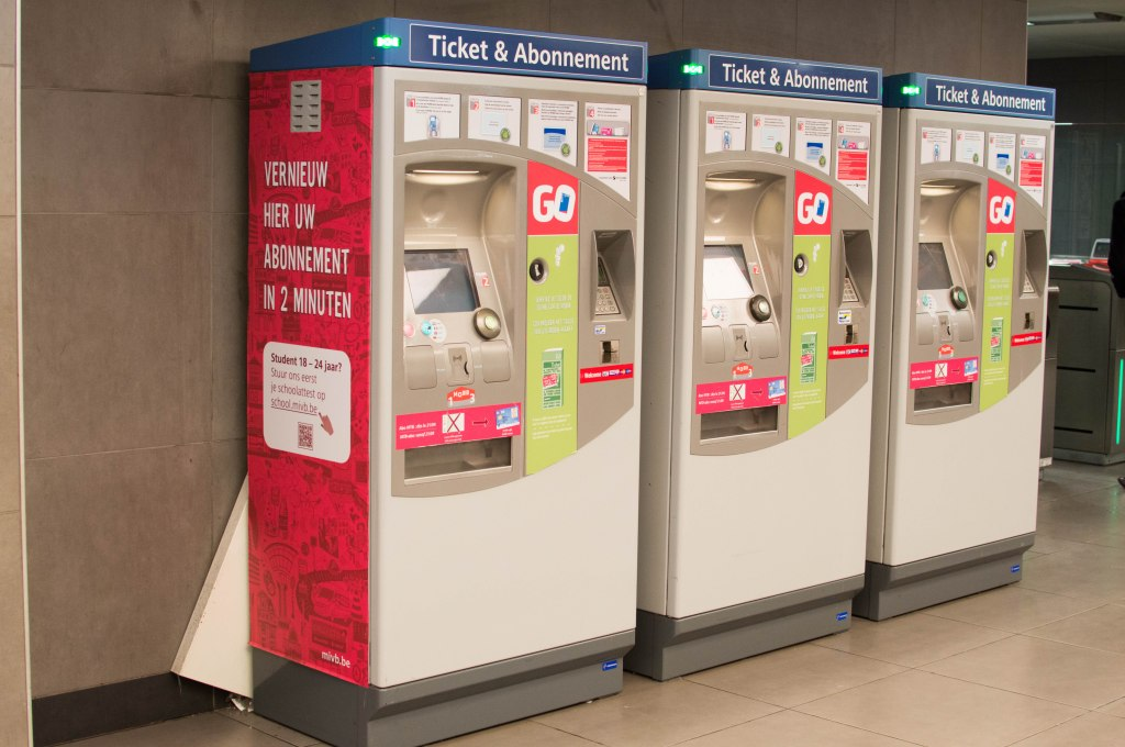 Ticket Machine, Metro, Brussels, Belgium