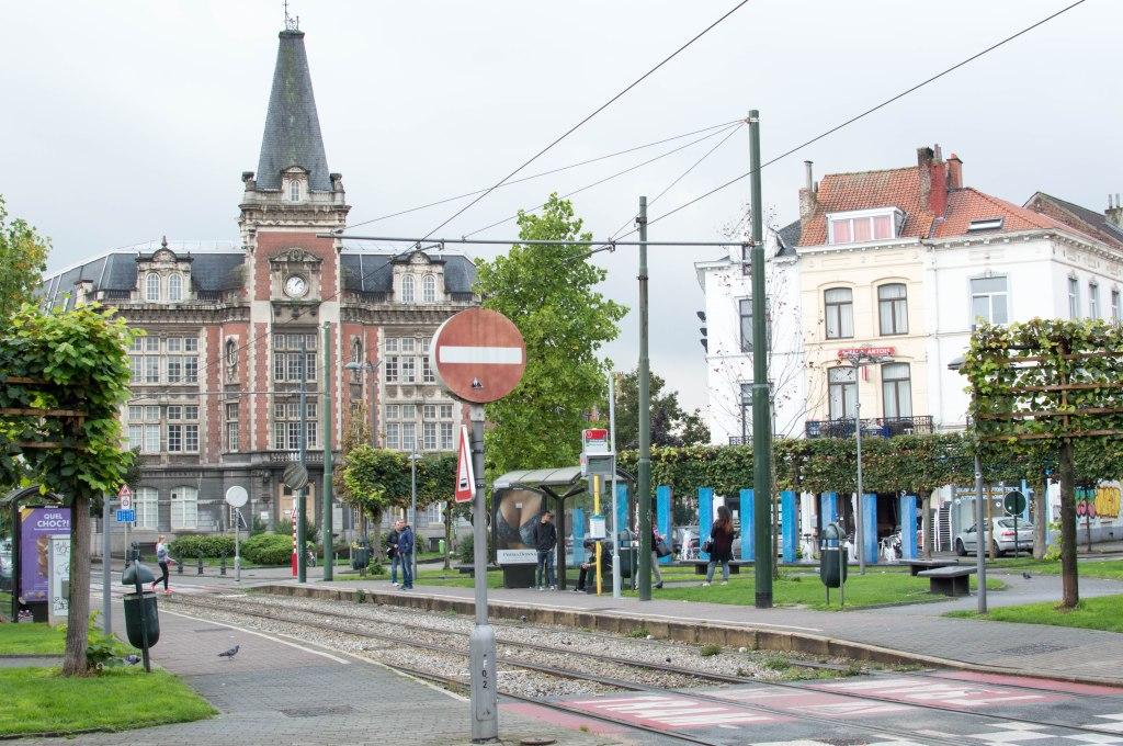 Tram Stop, Brussels, Belgium