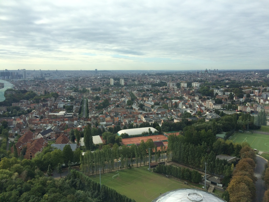 View From The Top Of The Atomium, Brussels, Belgium