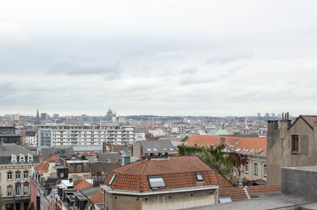 View Of Brussels From Ascenseur des Marolles In Belgium