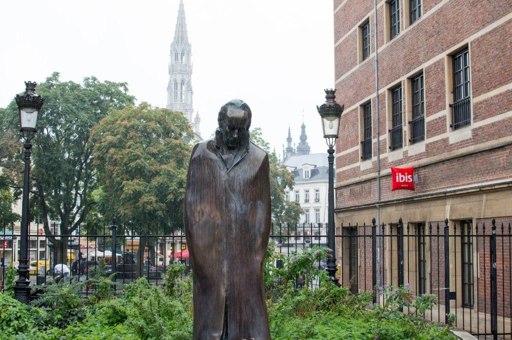 Wet And Sad Statue, Brussels, Belgium