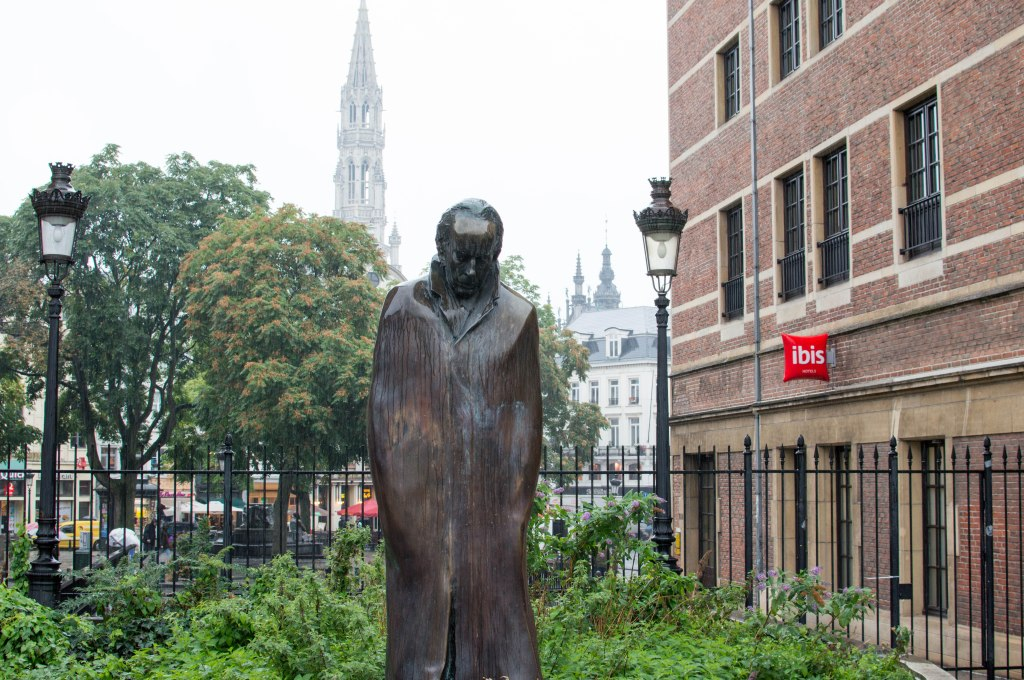 Wet And Sad Statue, Brussels, Belgium