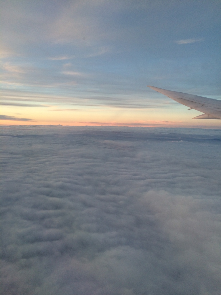 Above the Clouds At Sunset, View From the Plane