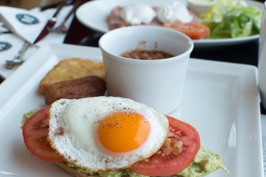 Avocado And Fried Egg Tartine, Cafe Martinez, Dubai Marina, UAE