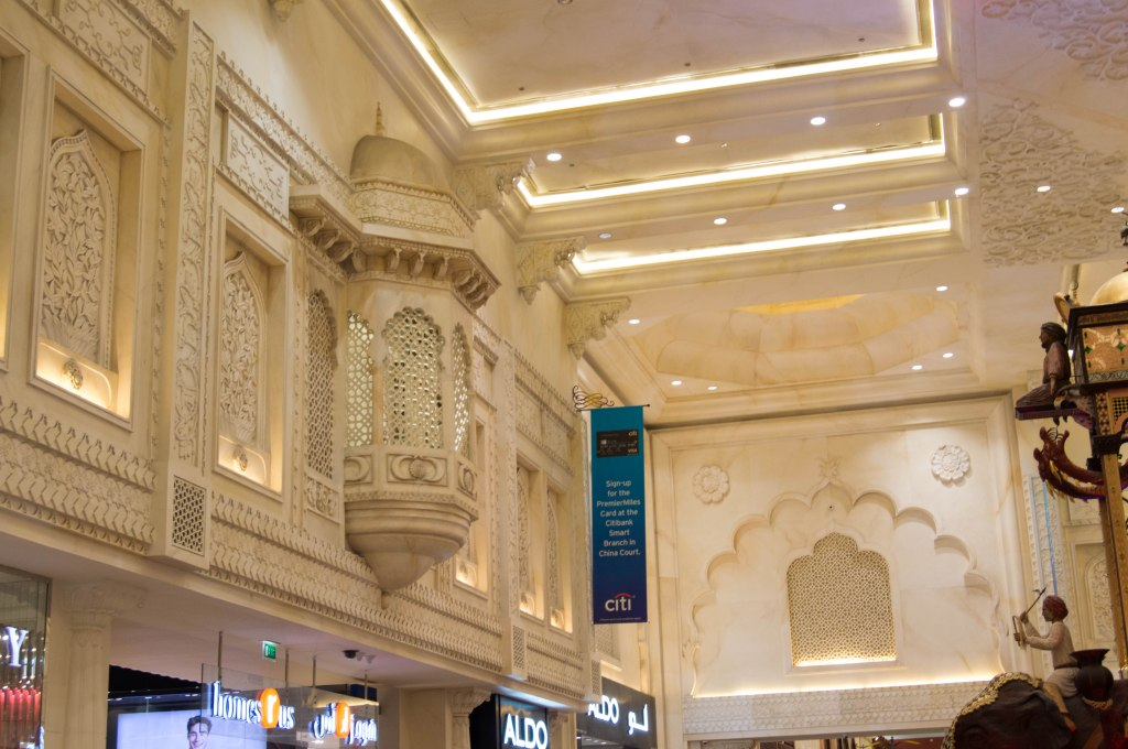 Balcony, Indian Court, Ibn Battuta Mall, Dubai, UAE