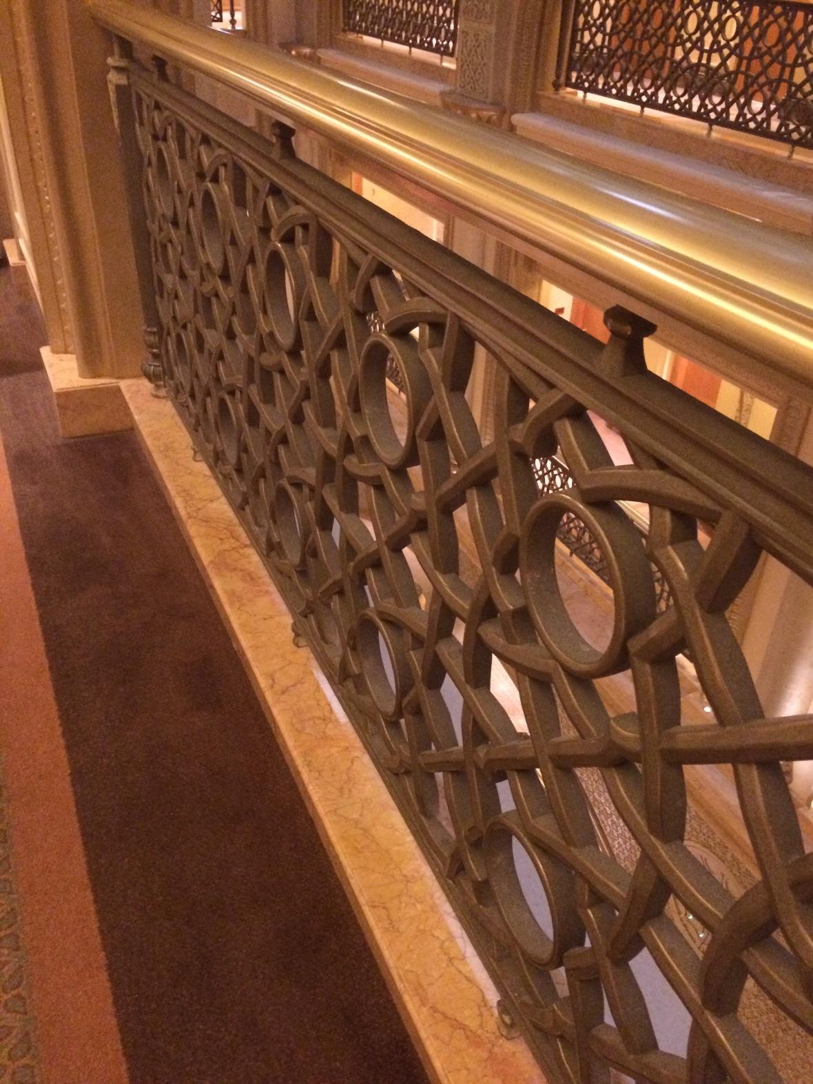 Banisters, Emirates Palace Hotel, Abu Dhabi, UAE