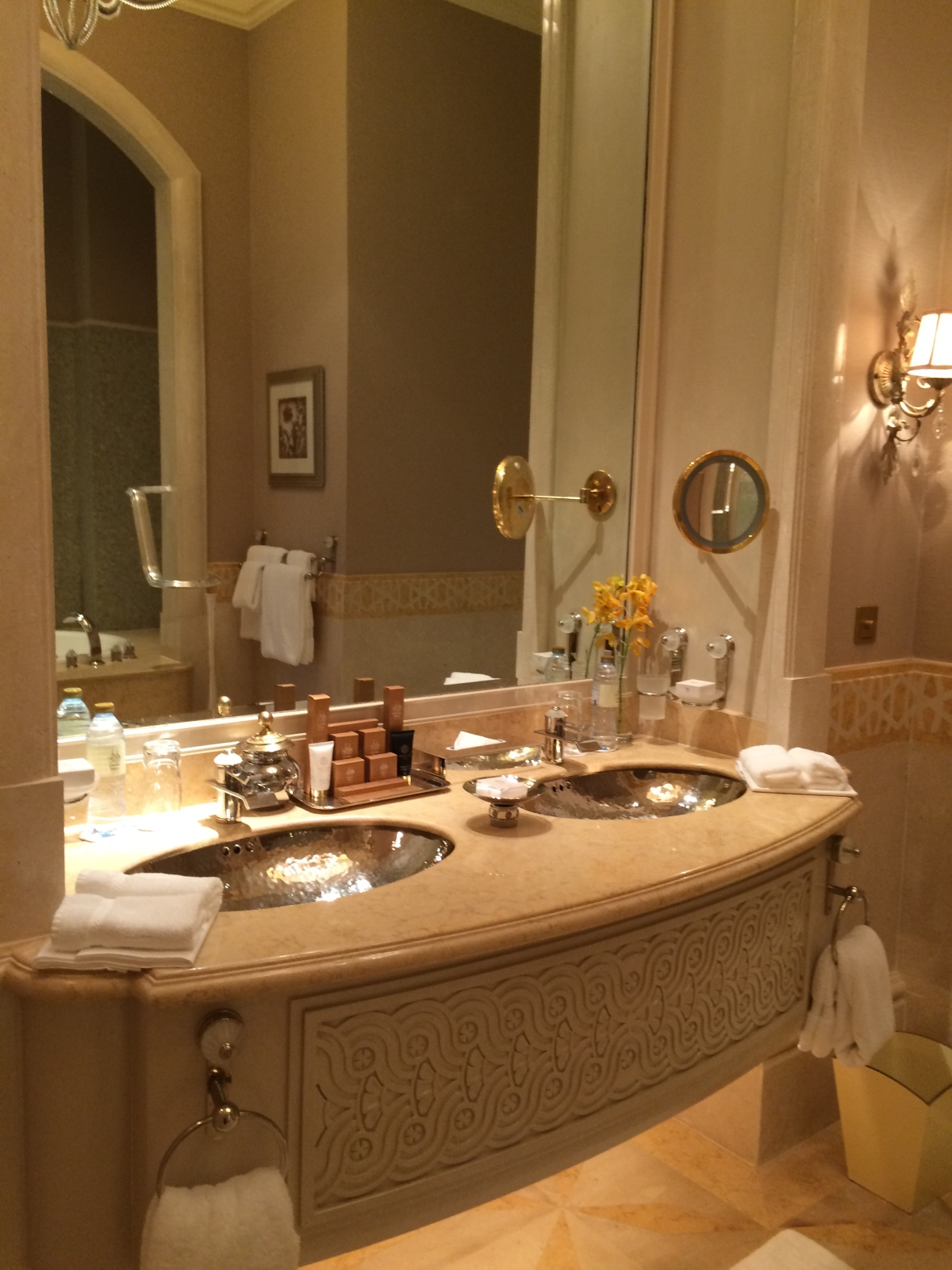 Bathroom Sink, Emirates Palace Hotel, Abu Dhabi, UAE