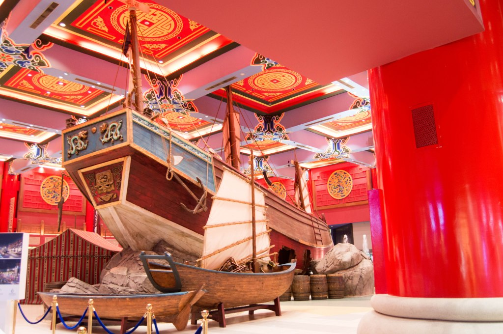 Boat Display, China Court, Ibn Battuta Mall, Dubai, UAE