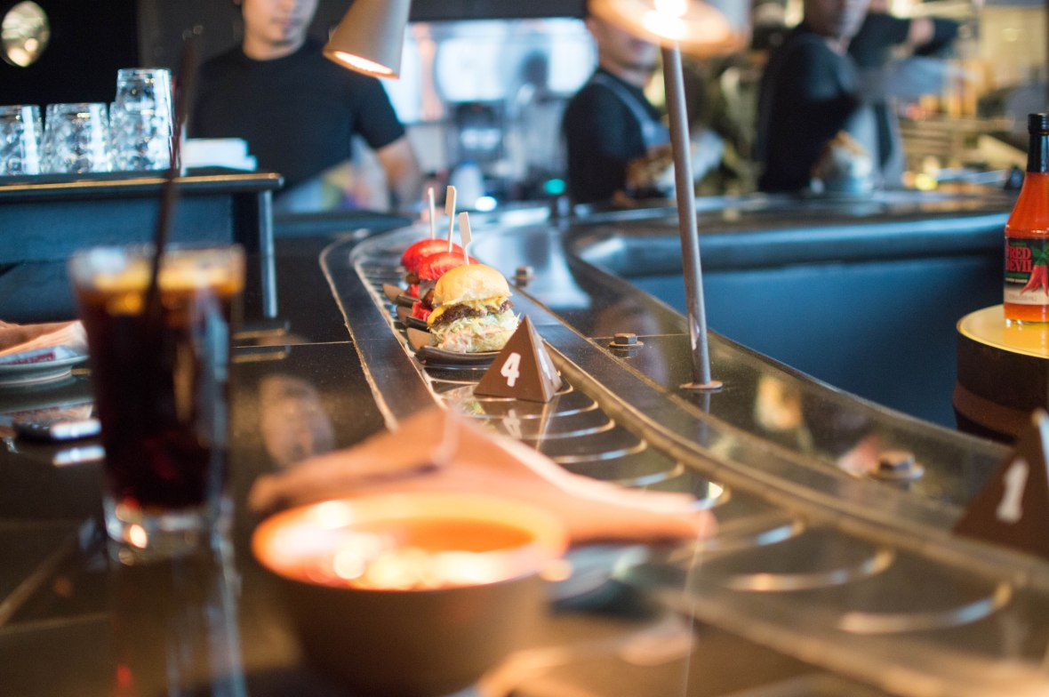 Burger Conveyor Belt, Slider Station, Dubai, UAE