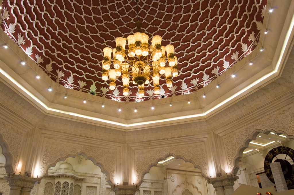 Ceiling Decor, India Court, Ibn Battuta Mall. Dubai, UAE