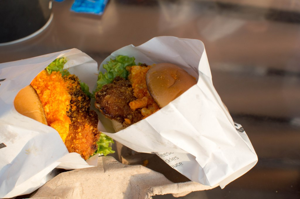 Chicken Cheeto Sliders, Salt Food Truck, Kite Beach, Dubai, UAE