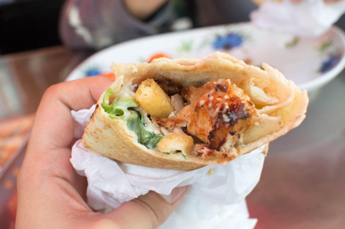 Chicken Shawarma, Ashwaq Cafeteria, Deira, Dubai, UAE