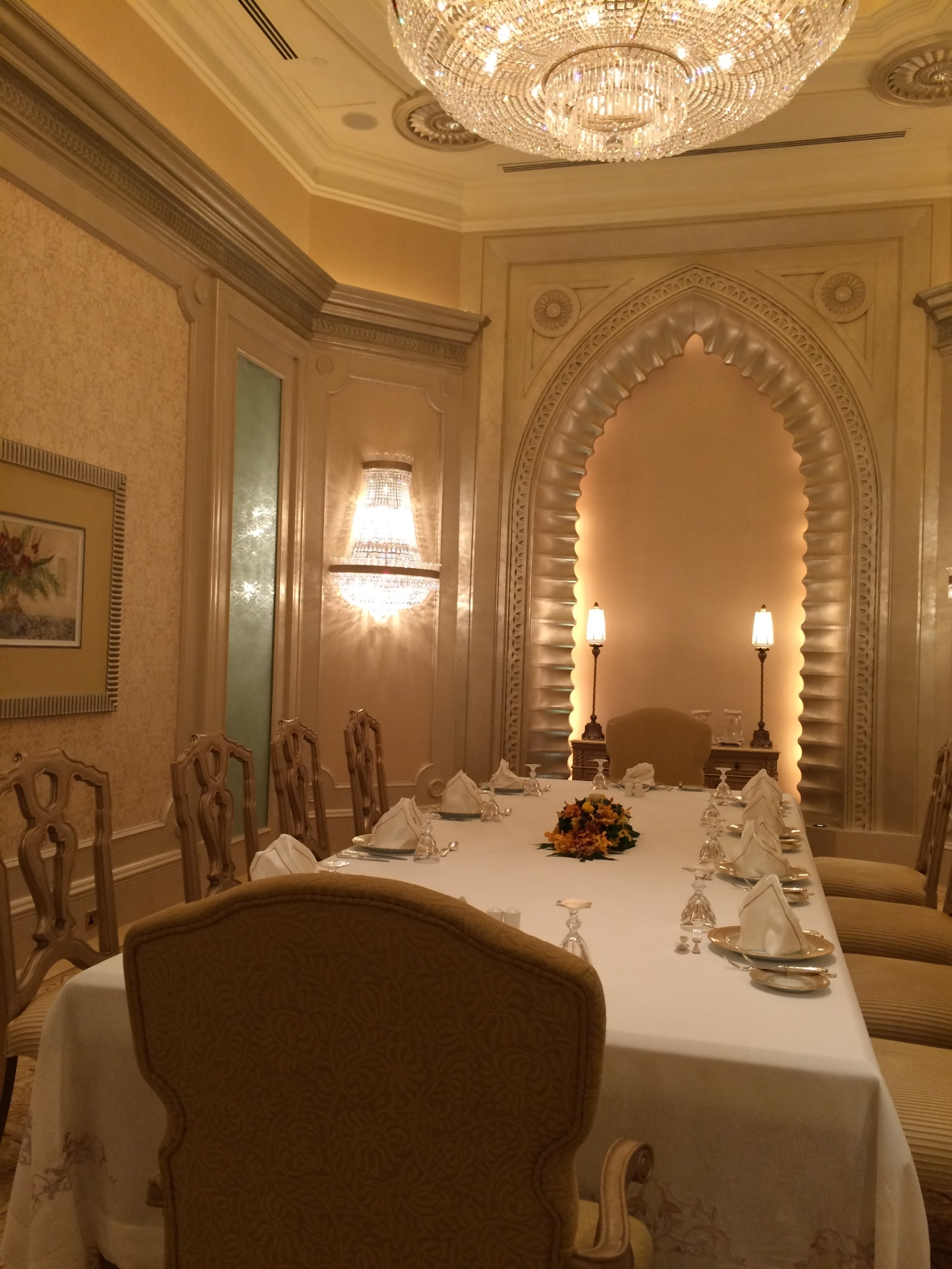 Dining Area, Suite Emirates Palace Hotel, Abu Dhabi, UAE