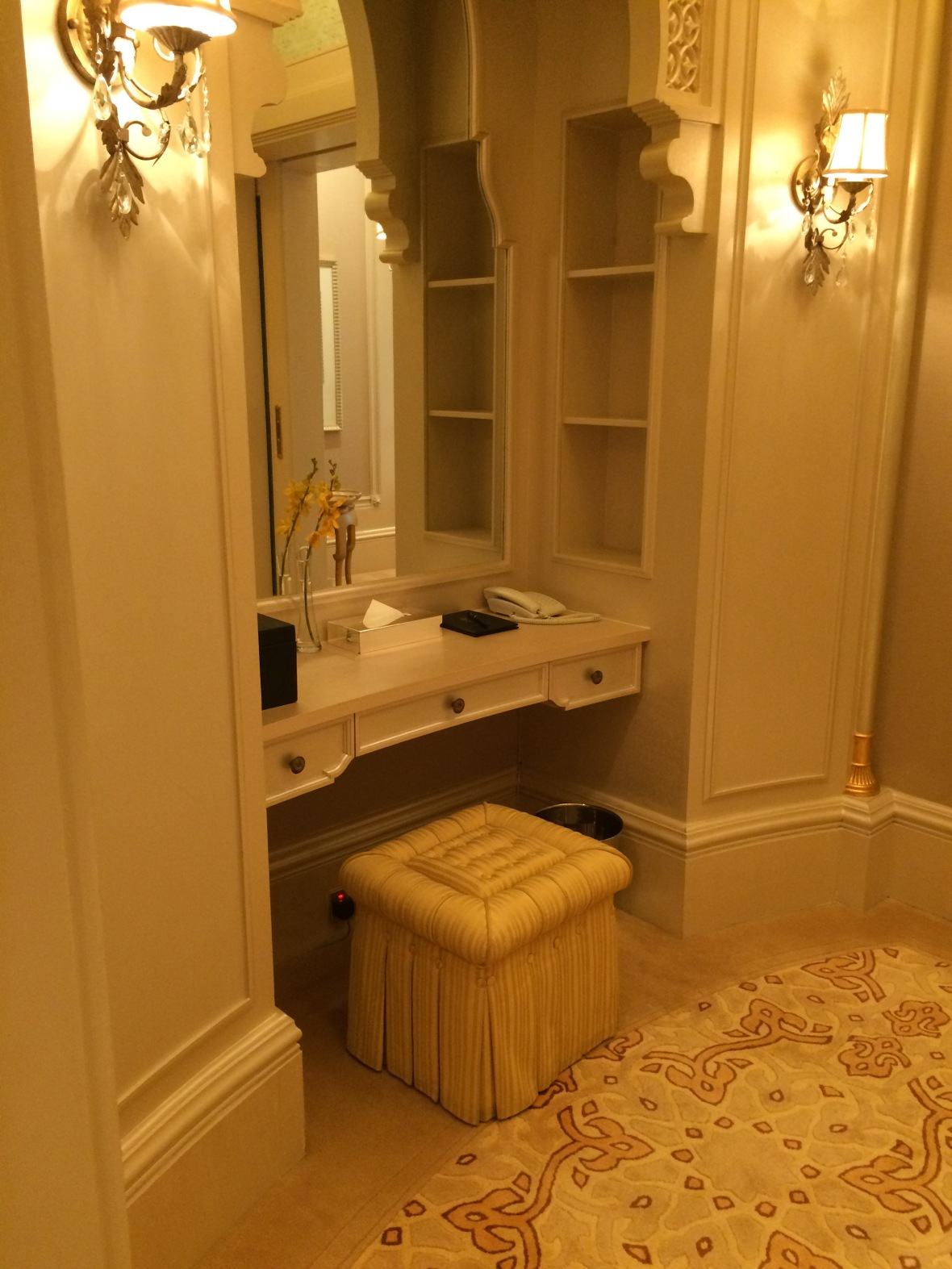 Dressing Table, Emirates Palace Hotel, Abu Dhabi, UAE
