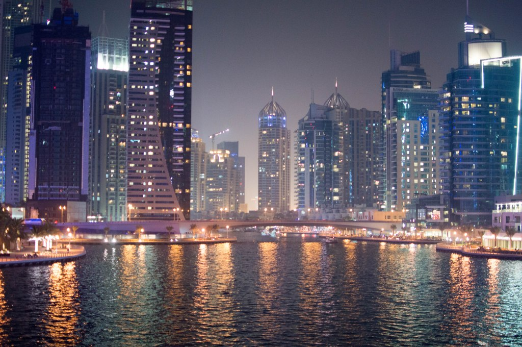 Dubai Marina At Night, Dubai, UAE