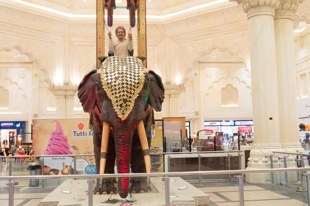 Elephant, India Court, Ibn Battuta Mall. Dubai, UAE