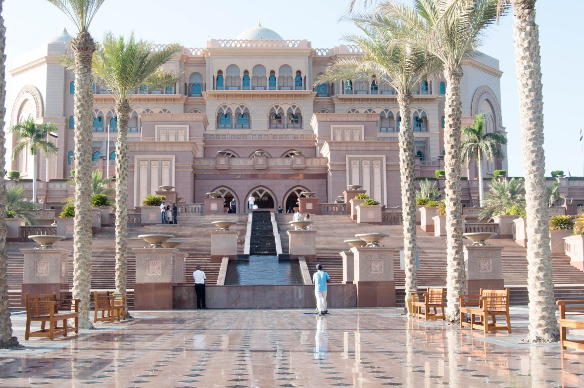 Emirates Palace Hotel Entrance, Abu Dhabi, UAE