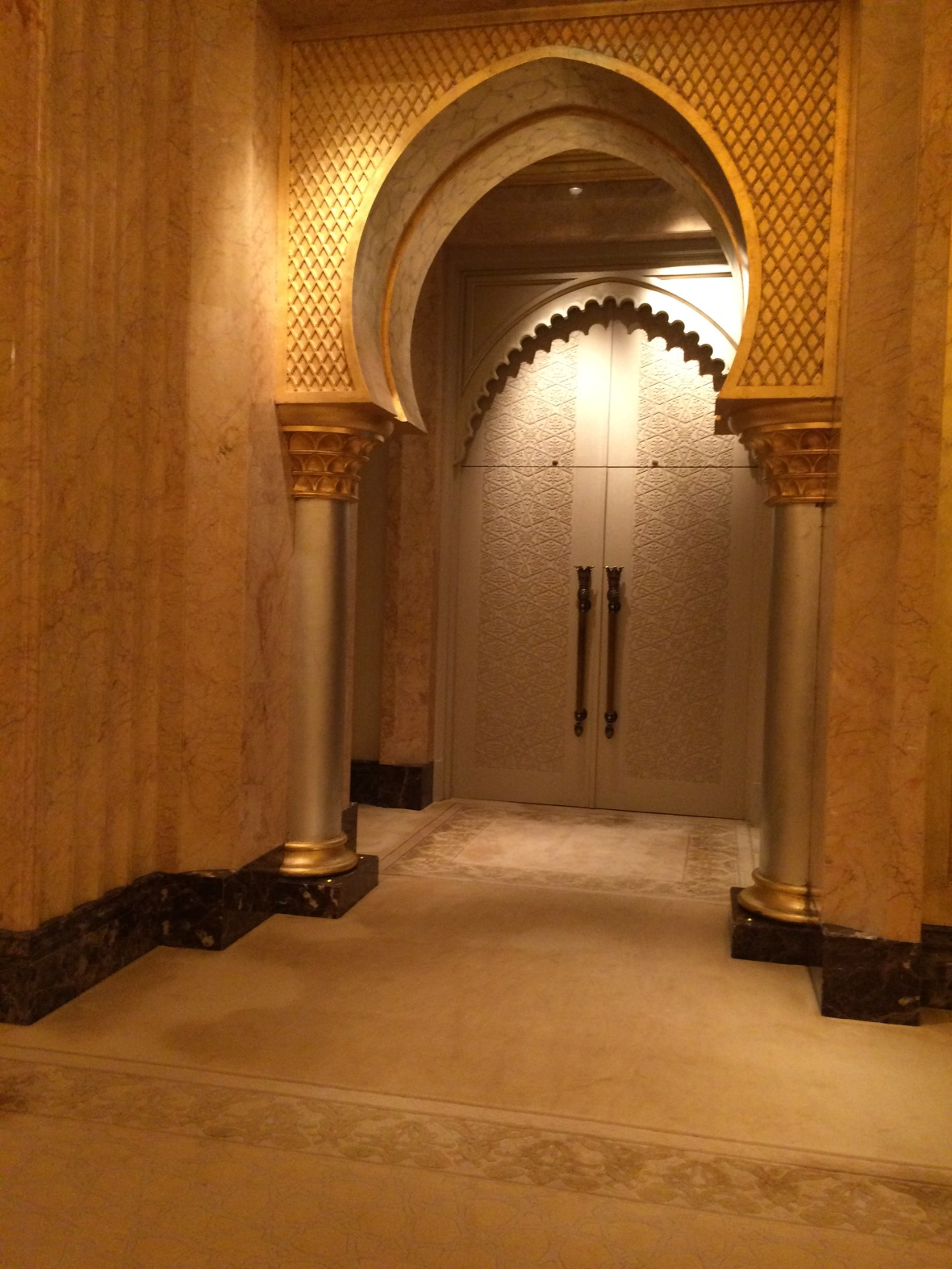 Entrance to Suite, Emirates Palace Hotel, Abu Dhabi, UAE