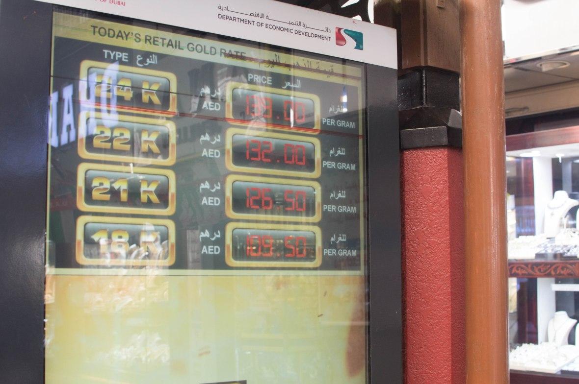 Gold Rate, Deira, Dubai, UAE