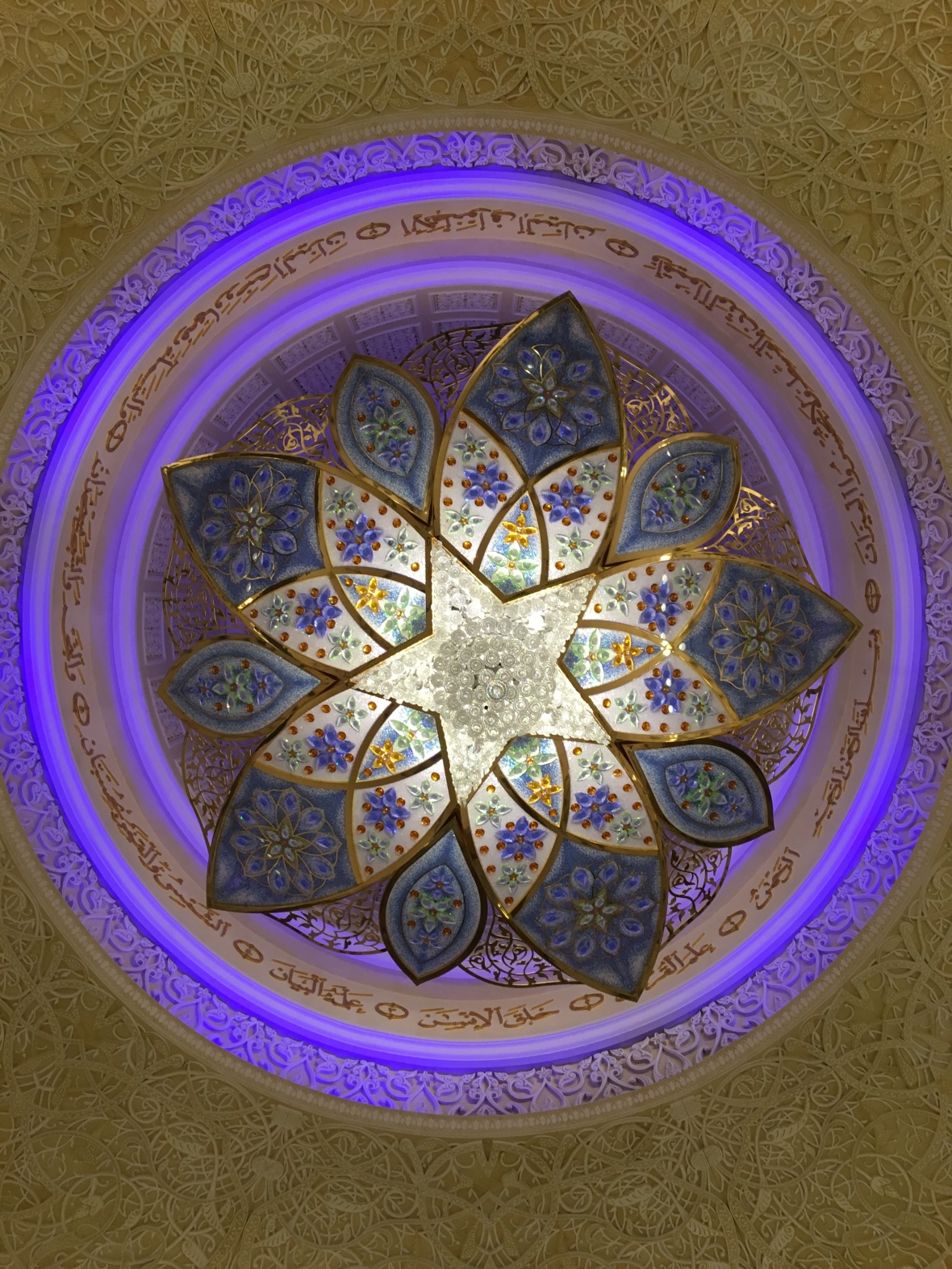 Lighting, Sheikh Zayed Grand Mosque, Abu Dhabi, UAE