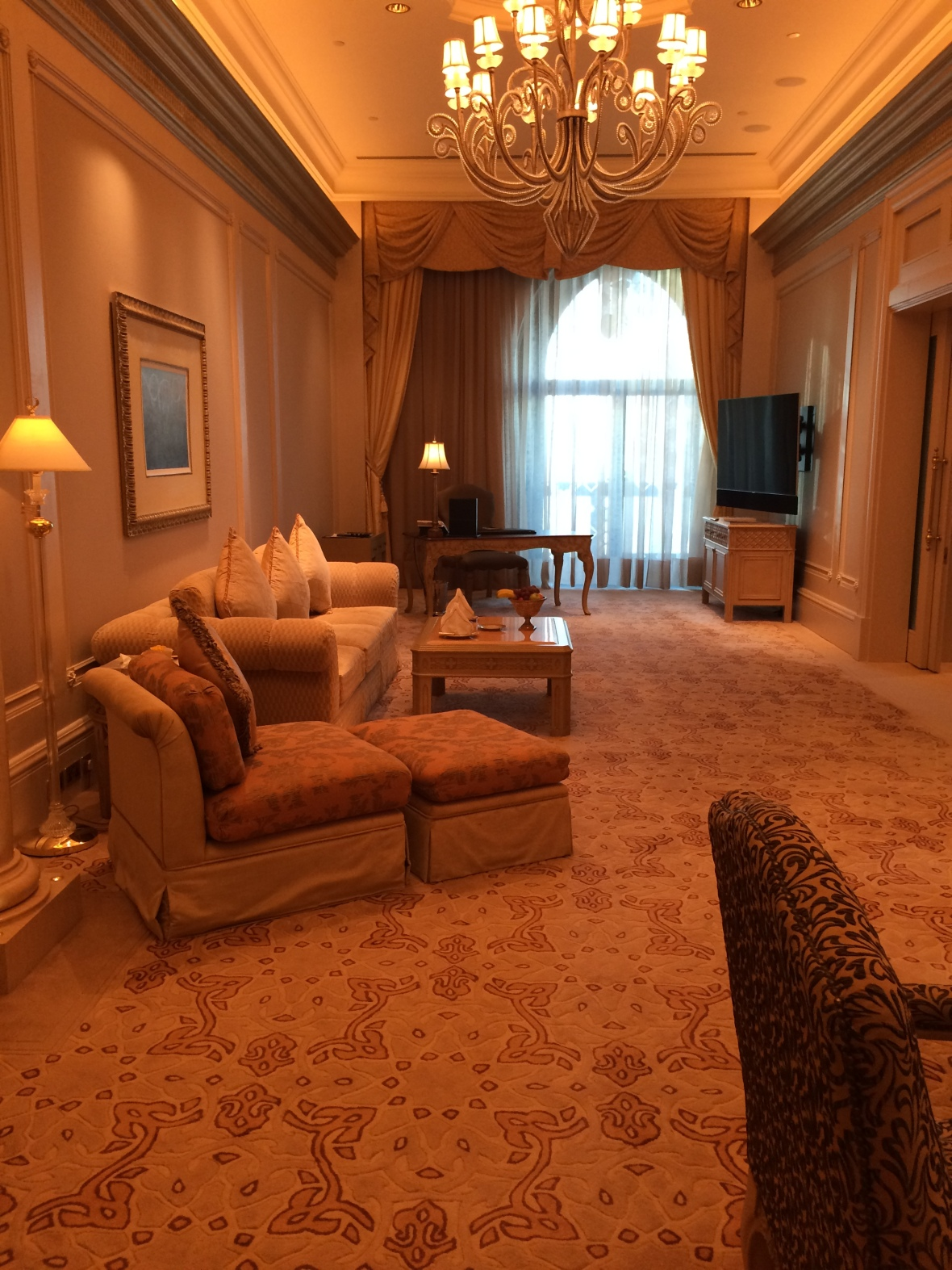 Living Room Area, Suite, Emirates Palace Hotel, Abu Dhabi, UAE