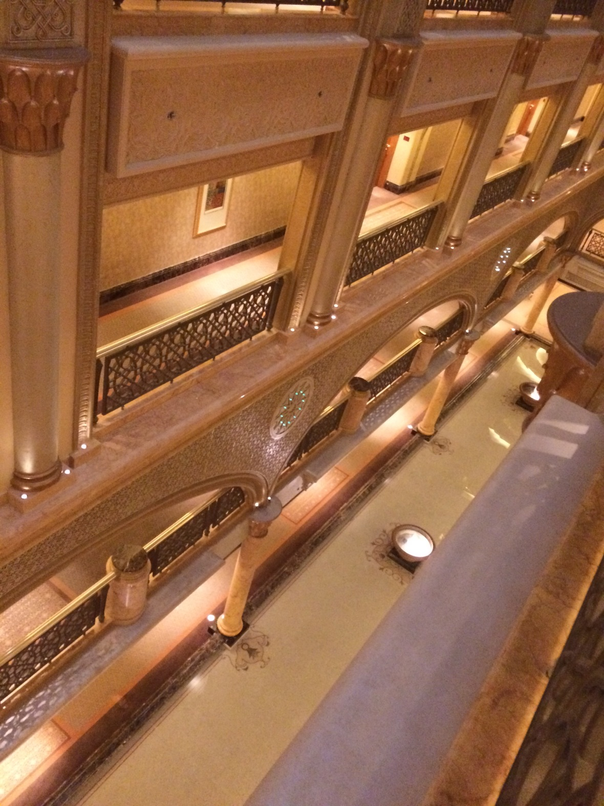 Looking Down, Emirates Palace Hotel, Abu Dhabi, UAE