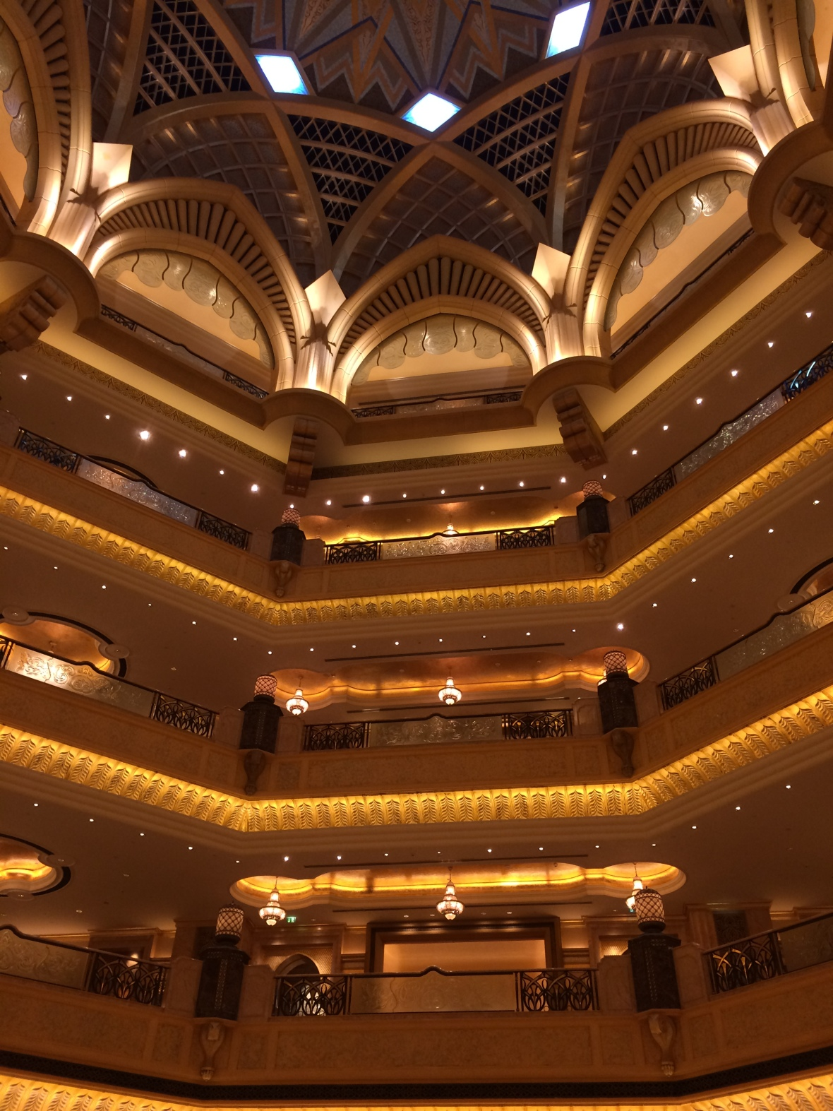 Looking Up, Emirates Palace Hotel, Abu Dhabi, UAE