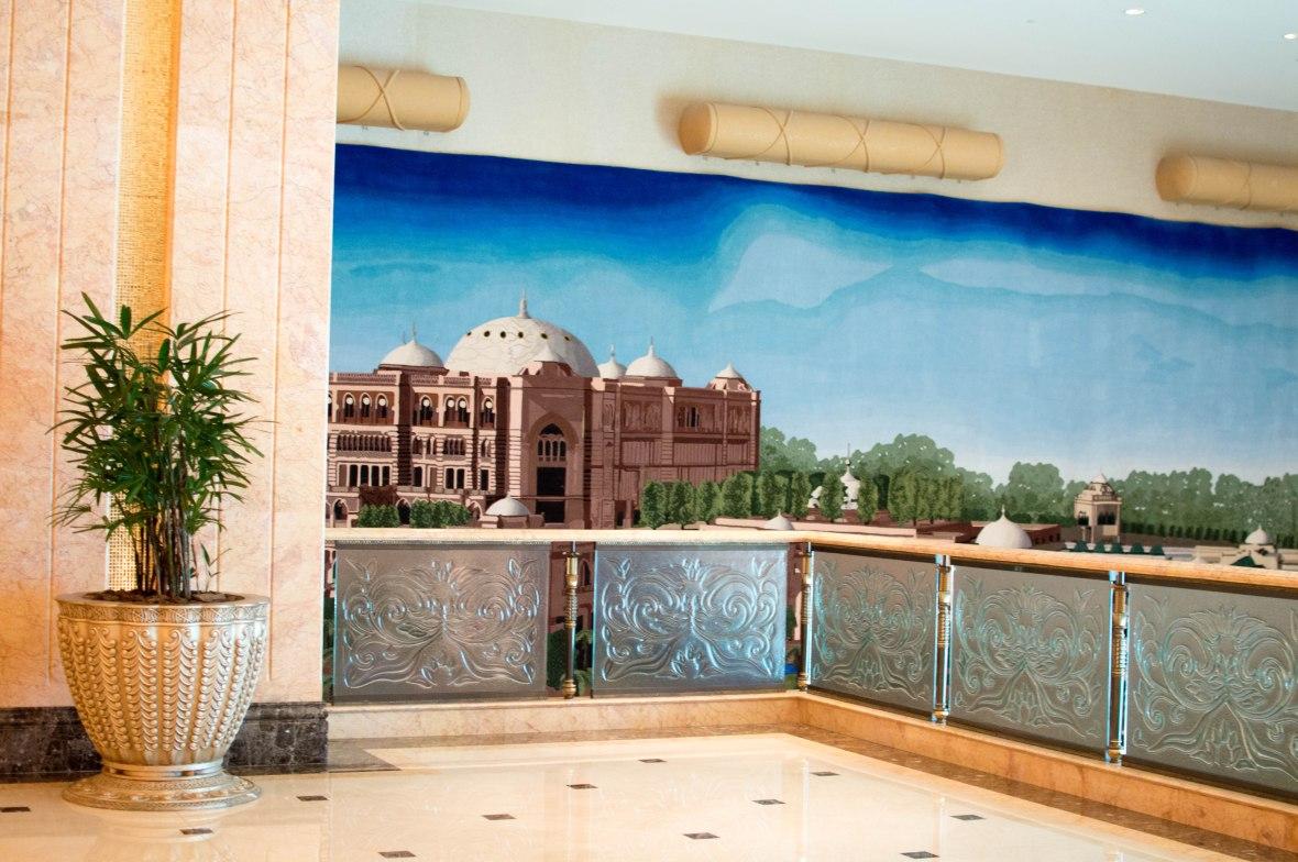 Mural, Emirates Palace Hotel, Abu Dhabi, UAE