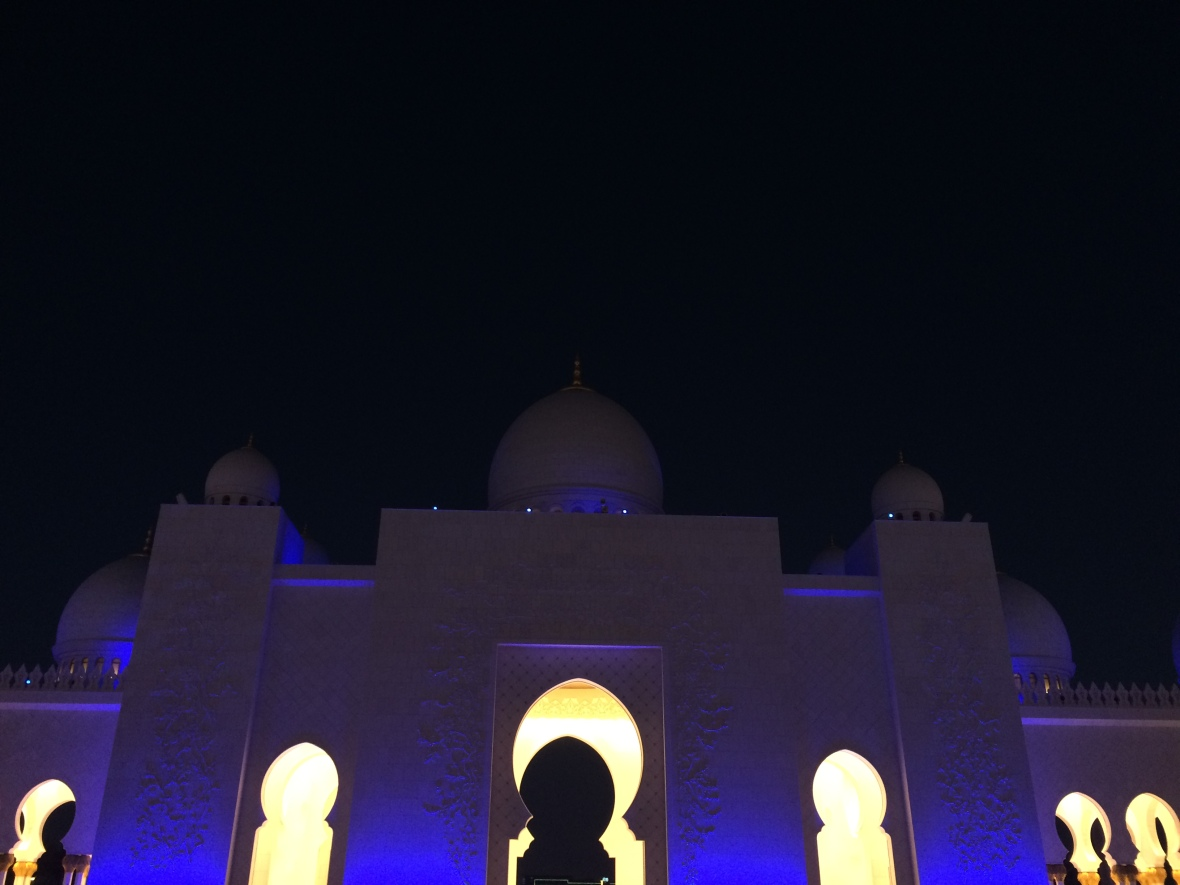 Night Time, Sheikh Zayed Grand Mosque, Abu Dhabi, UAE