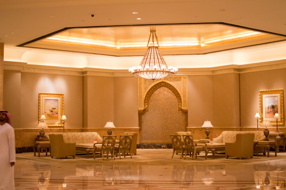 Reception Lounge, Emirates Palace Hotel, Abu Dhabi, UAE
