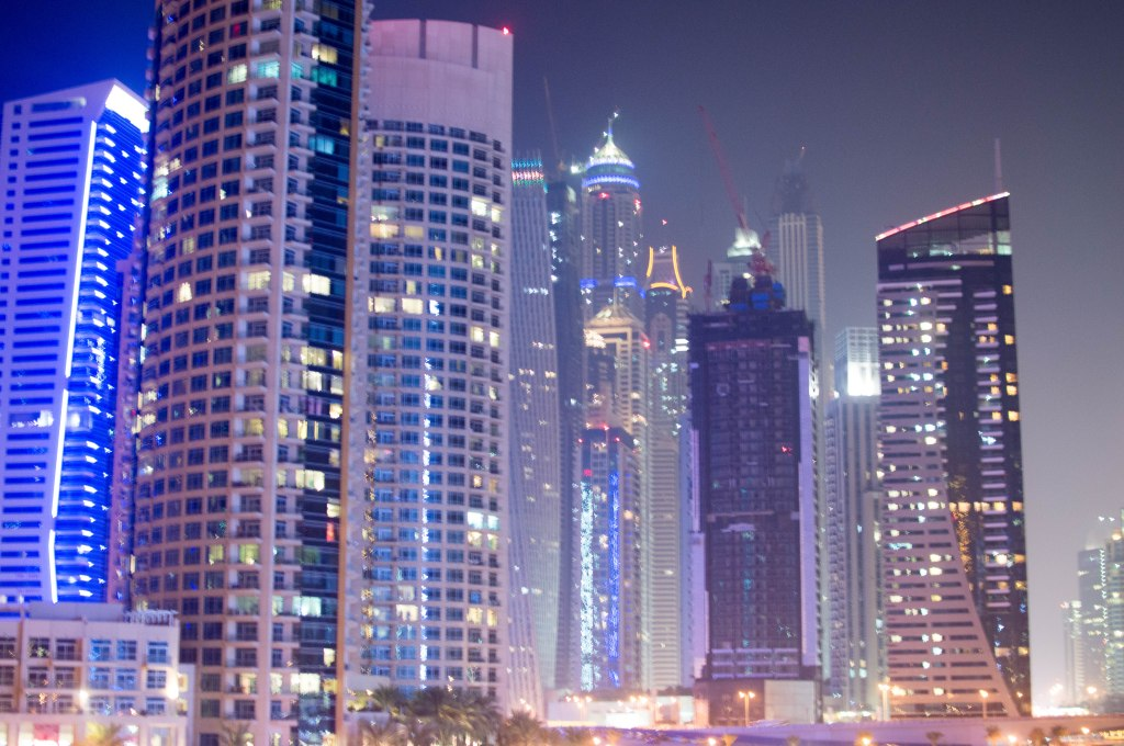 Skyscrapers In Dubai Marina, Dubai, UAE